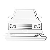 parked car frontview icon image