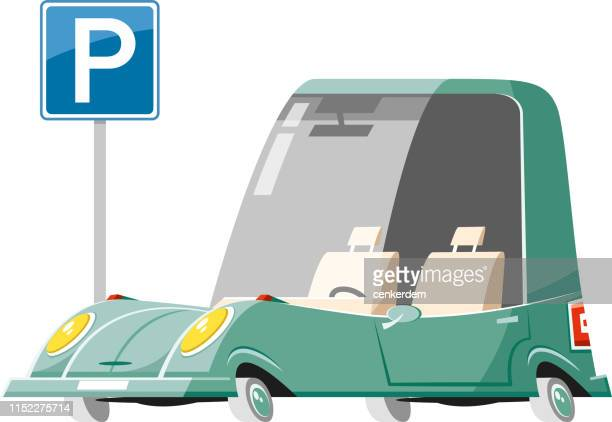 parked car - car ownership stock illustrations, clip art, cartoons, & icons