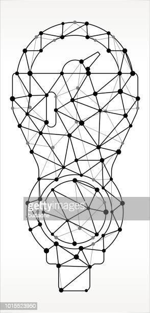 parking meter triangle node black and white pattern - parking meter stock illustrations