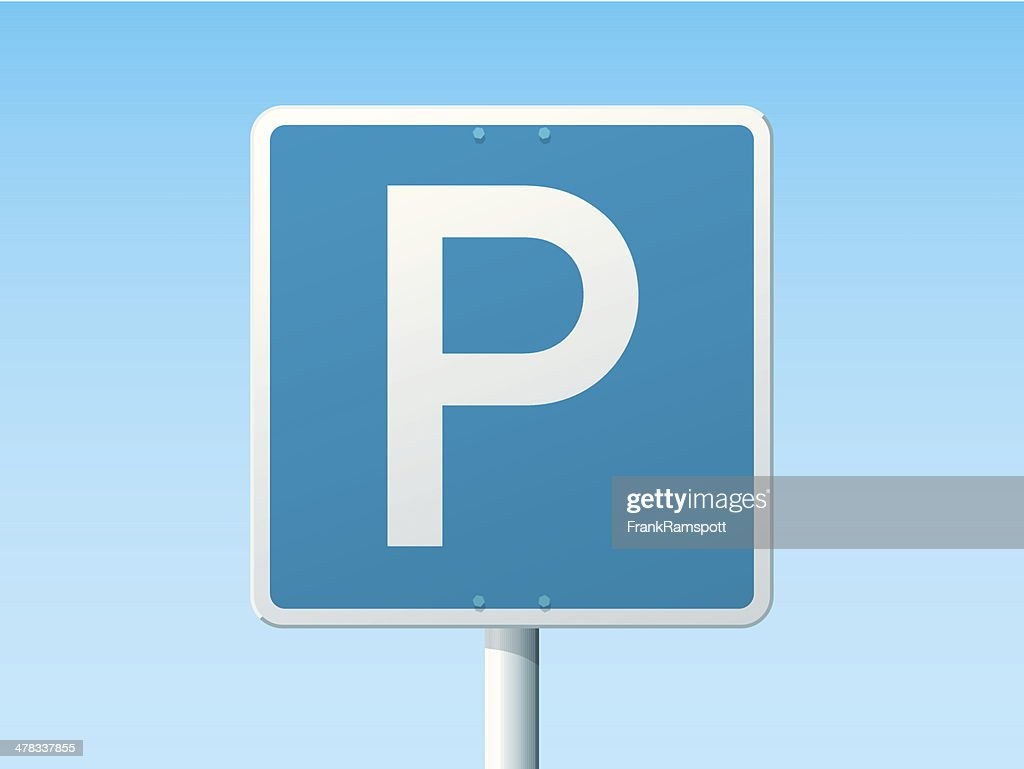Parking Place German Road Sign : stock illustration