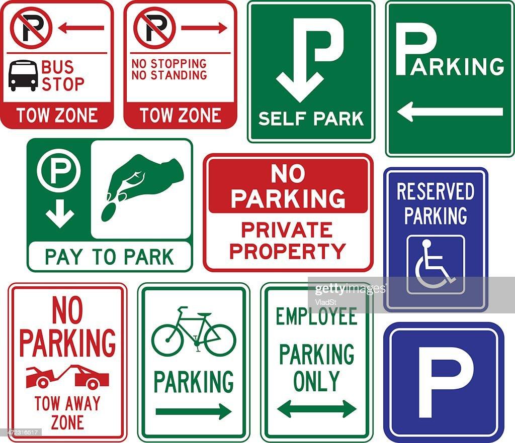 Parking signs : stock illustration