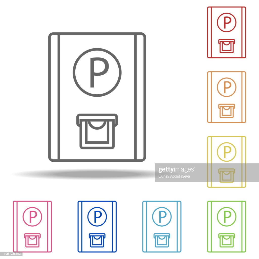 parking ticket icon. Elements of Camping in multi colored icons. Simple icon for websites, web design, mobile app, info graphics