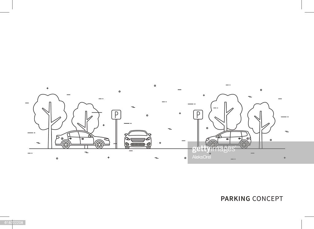 Parking vector illustration