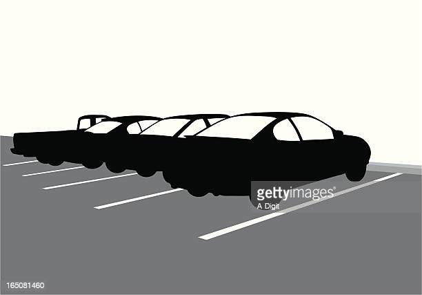 parking vector silhouette - parking stock illustrations, clip art, cartoons, & icons