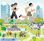 Parklife, Running