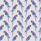 Parrot vector art background design for fabric and decor.
