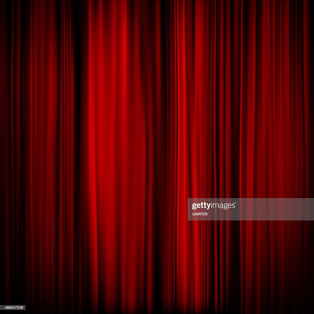 Parte de uma cortina vermelho-escuro. EPS 10 : Arte vetorial