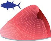 Part of tuna. Foodstuff.