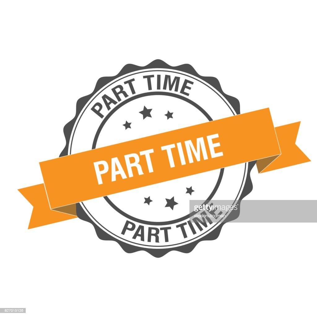 Part time stamp illustration
