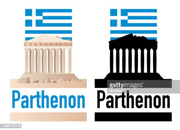 parthenon - greek islands stock illustrations, clip art, cartoons, & icons