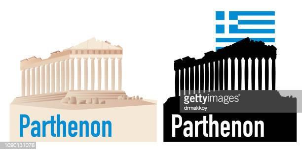 ilustrações, clipart, desenhos animados e ícones de parthenon - partenão acrópole
