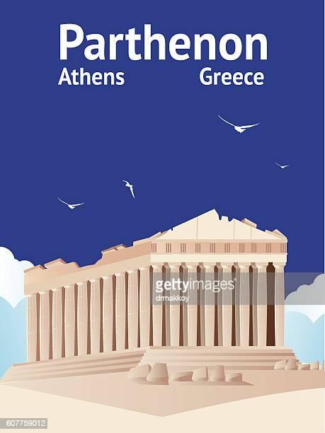parthenon - athens greece stock illustrations