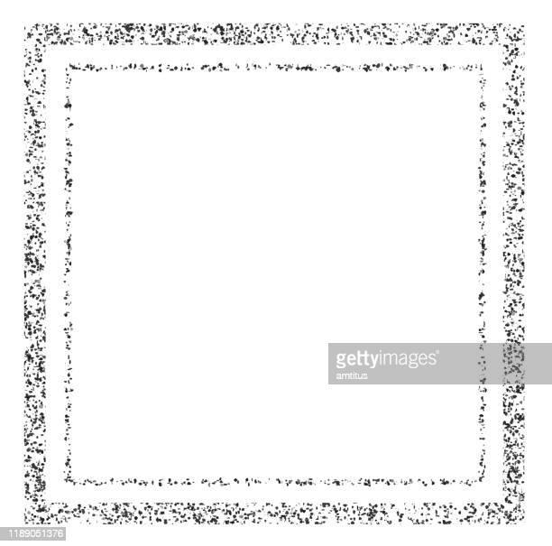 パーティクル フレーム - 黒枠点のイラスト素材/クリップアート素材/マンガ素材/アイコン素材