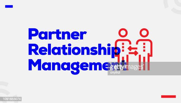 partner relationship management concept design - retail employee stock illustrations
