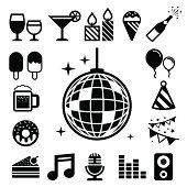 Party and Celebration icon set.