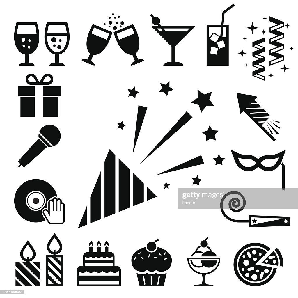 Party and Celebration icon set.