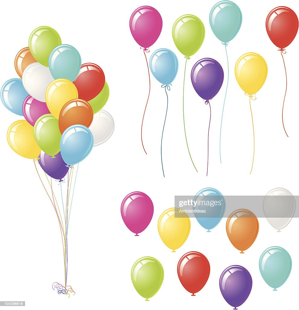 Party Balloons with Three Design Options