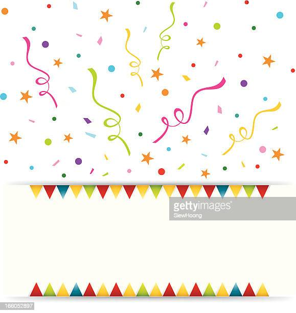 party celebration banner - anniversary stock illustrations