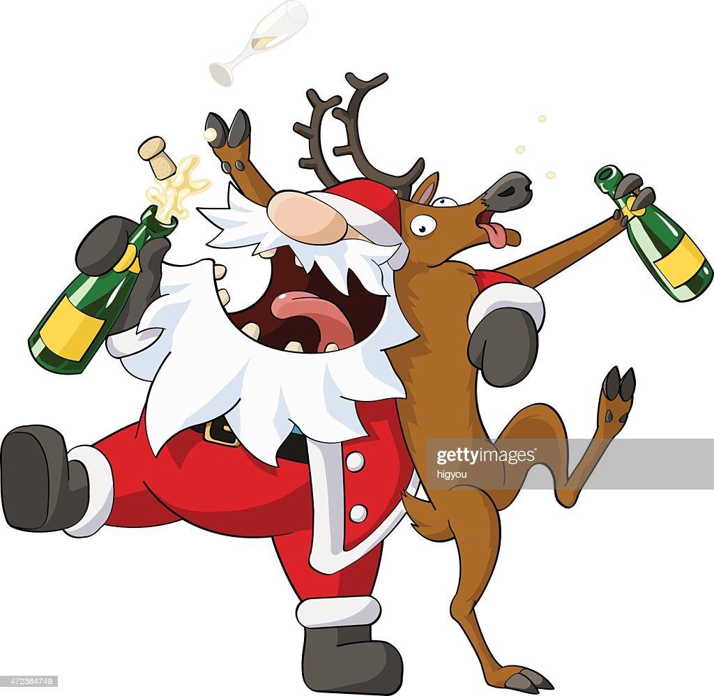 Party Christmas Cartoon