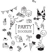 Party doodles set.