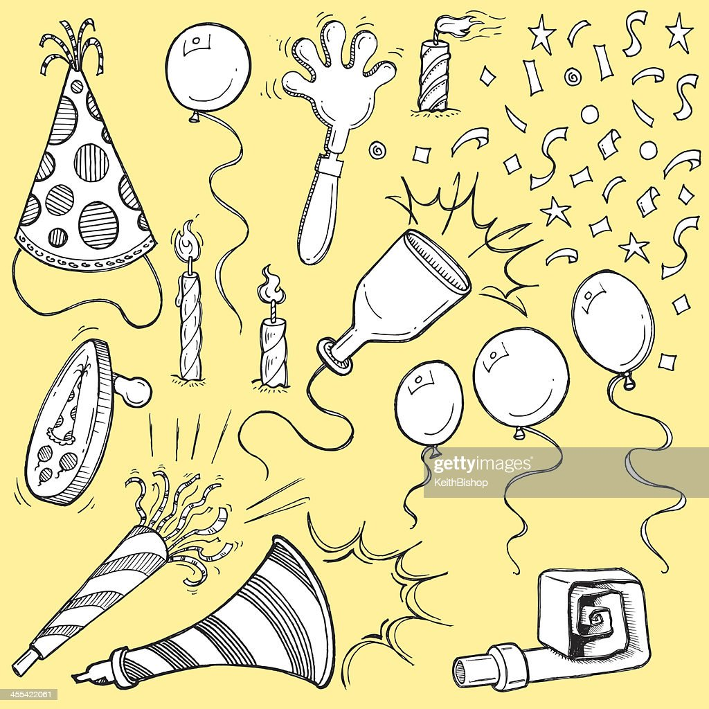 Party Favors - Noise Makers, Candles, Confetti, Balloons