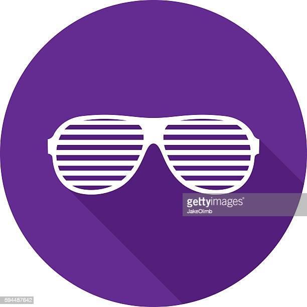 ilustraciones, imágenes clip art, dibujos animados e iconos de stock de party glasses icon silhouette - gafas de sol