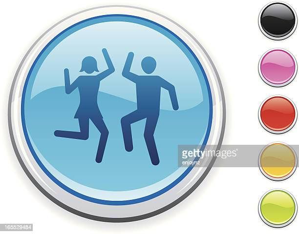 party icon - swing dancing stock illustrations