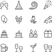 Party Icons and Celebration Icons