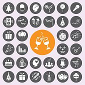 Party Icons set.vector/eps10.