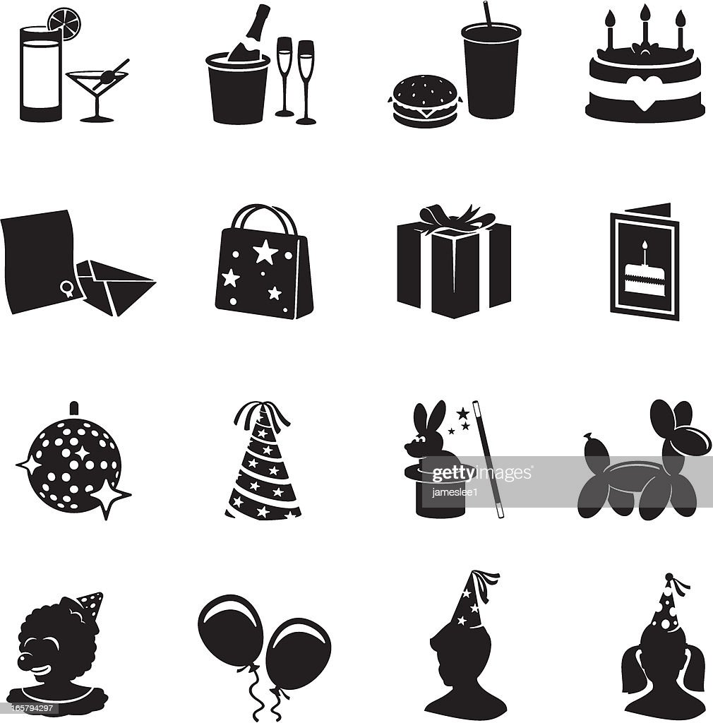 Party Icons : stock illustration