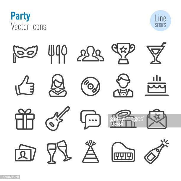 Party Icons - Vector Line Series