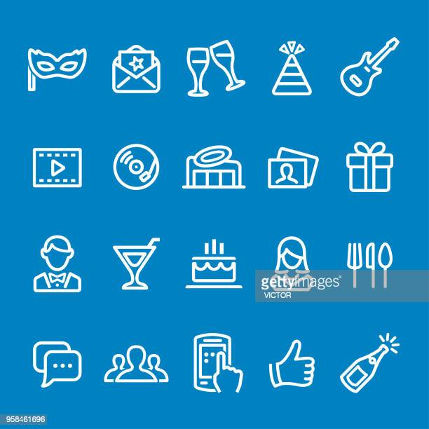 Party Icons - Vector Smart Line Series