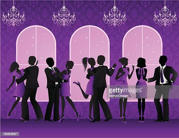 illustrations, cliparts, dessins animés et icônes de fête dans une discothèque - danse de salon