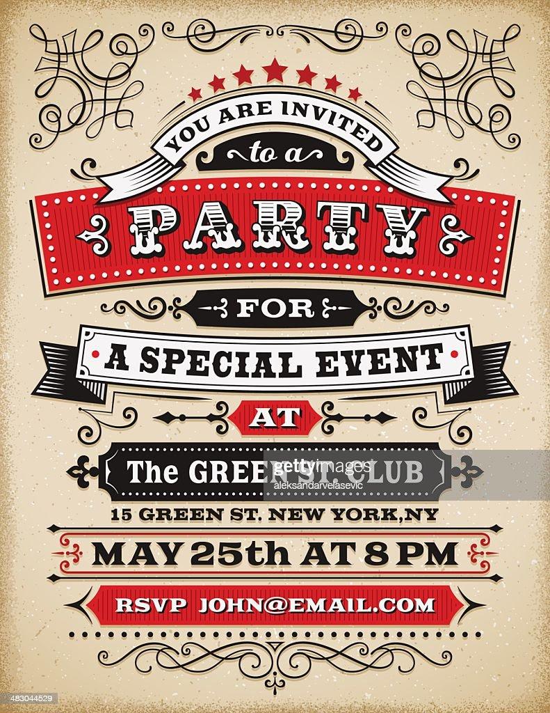 パーティの招待状 : ストックイラストレーション