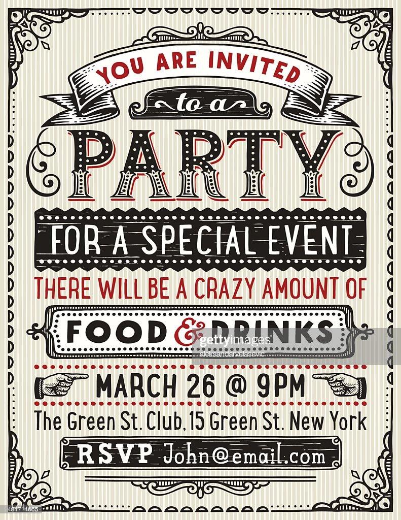 Party Invitation : stock illustration