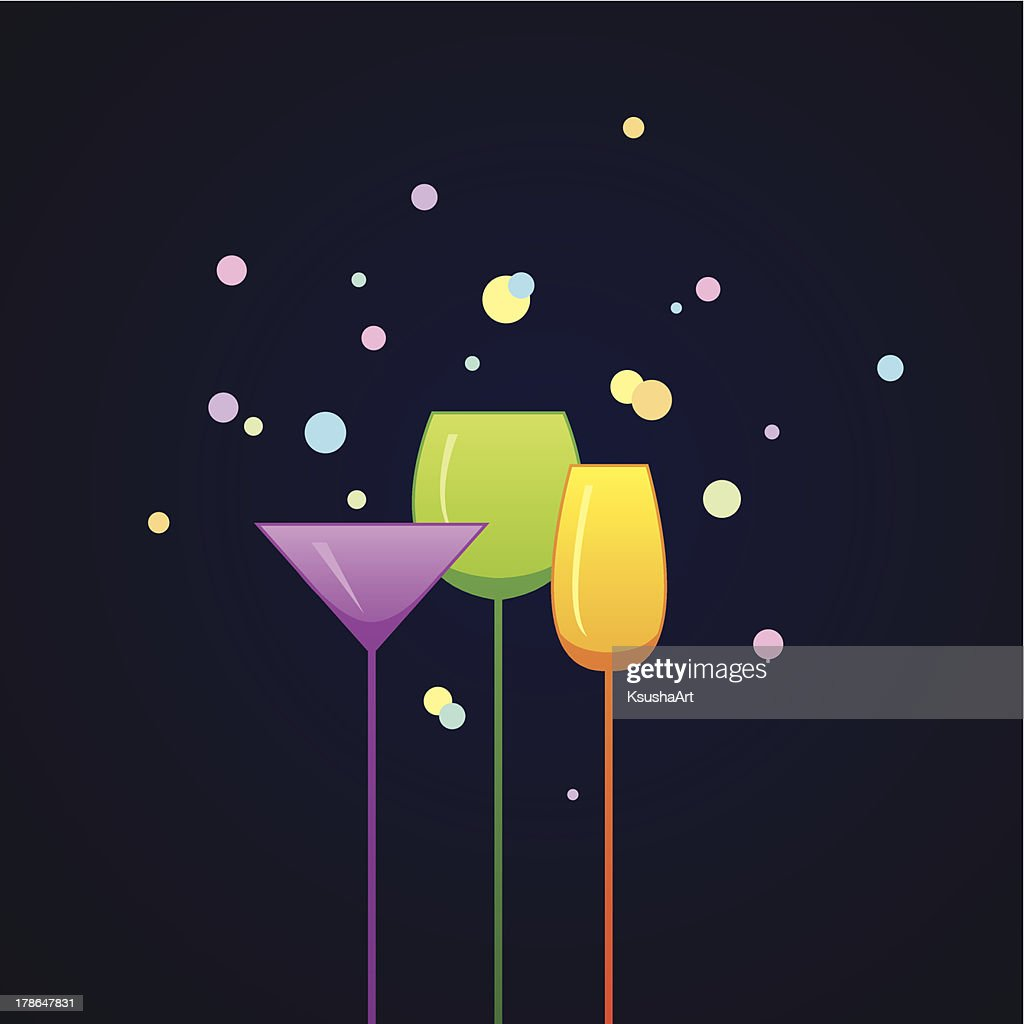 Party invitation with glasses