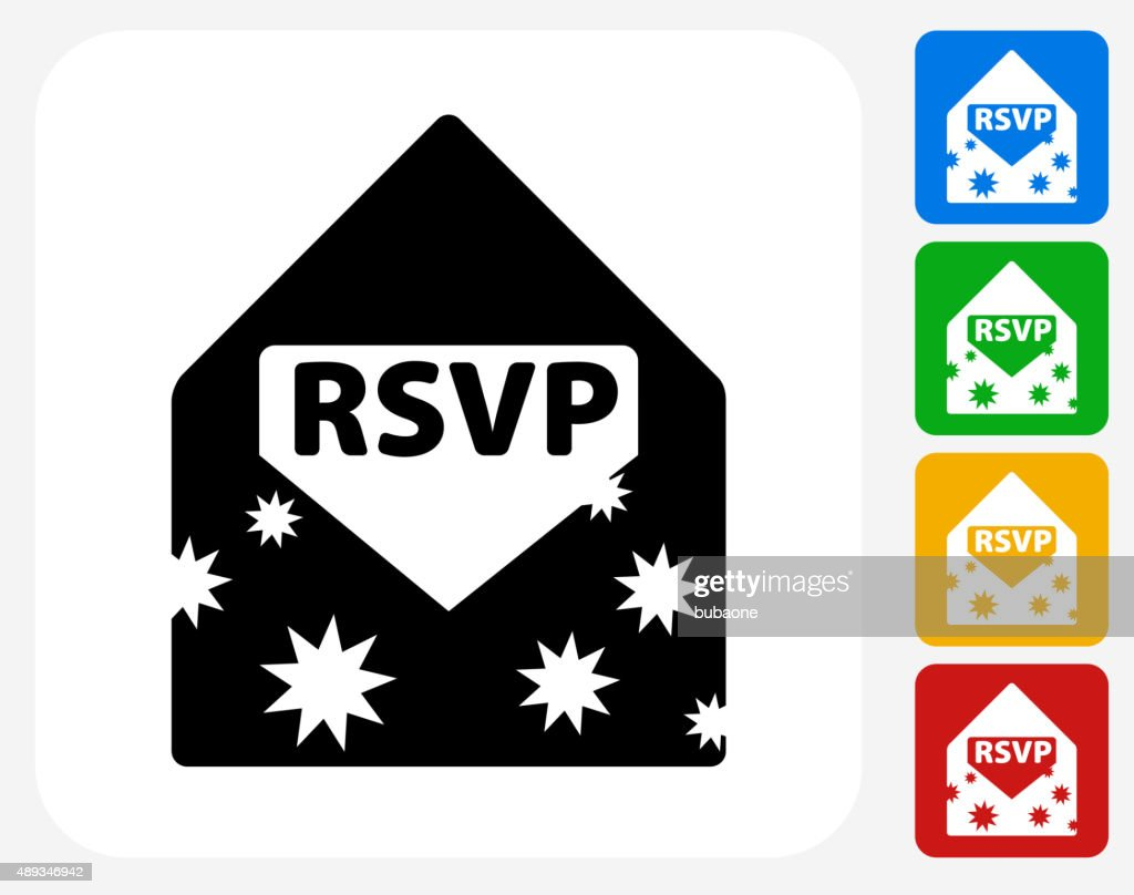 Party Invite Icon Flat Graphic Design Vector Art Getty Images