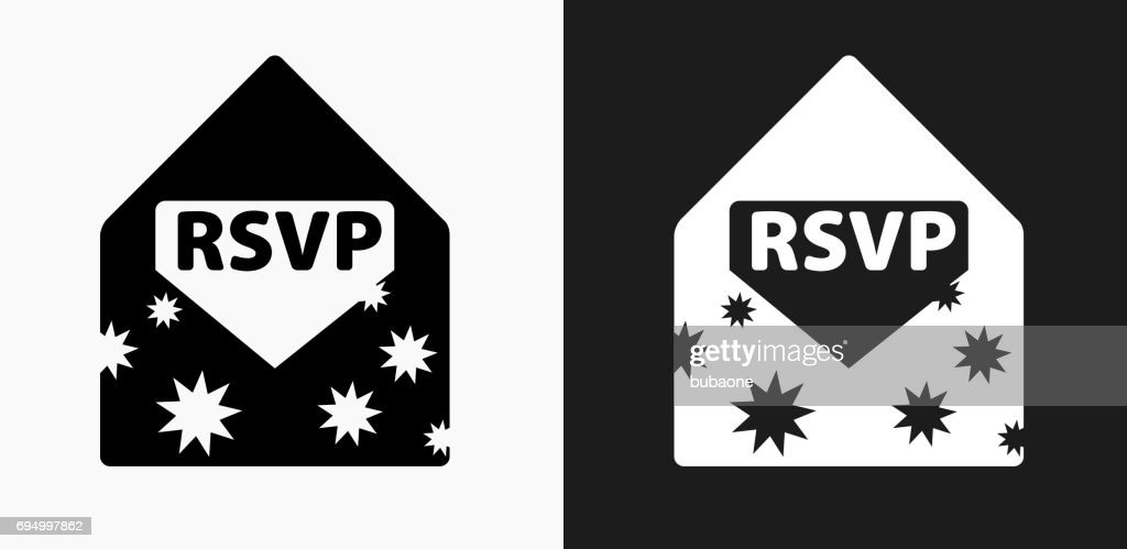 party invite icon on black and white vector backgrounds vector art