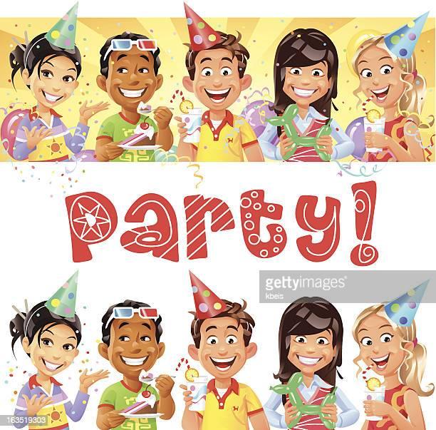 illustrations, cliparts, dessins animés et icônes de fête pour les enfants - anniversaire enfant