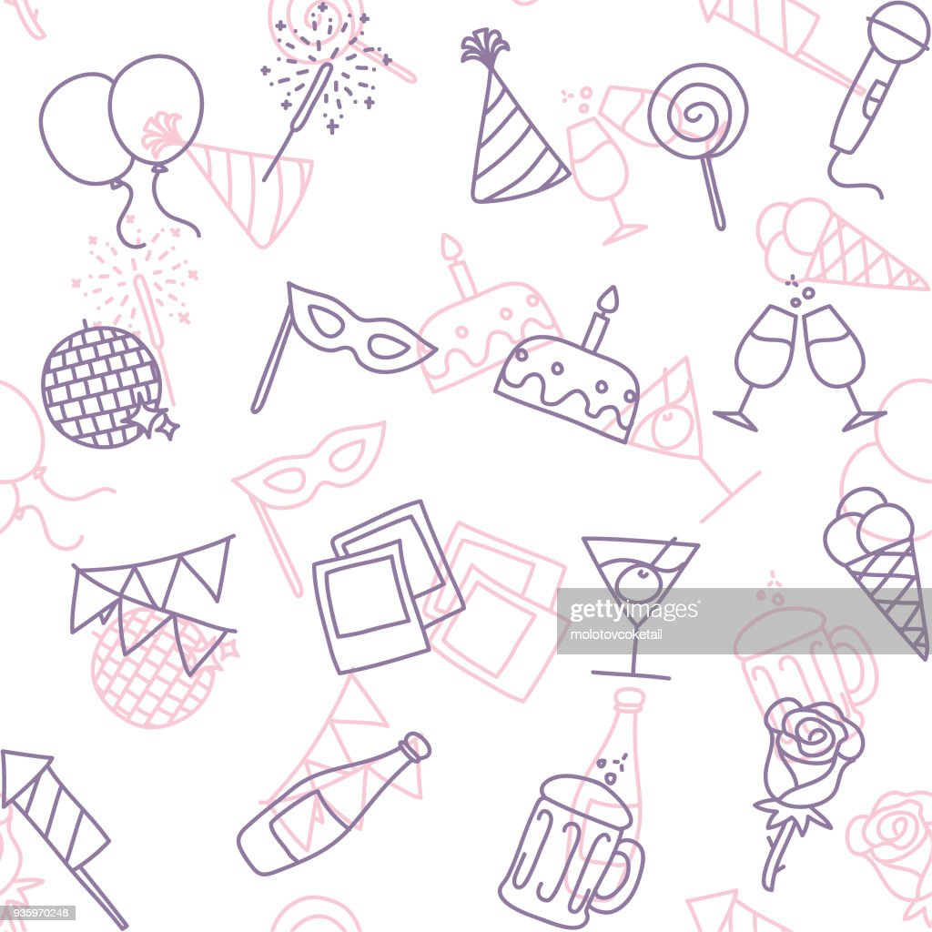 party line art icon seamless wallpaper pattern