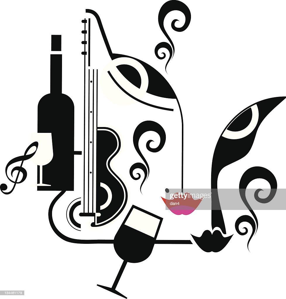 Party Musik Getränke Vektorgrafik | Getty Images