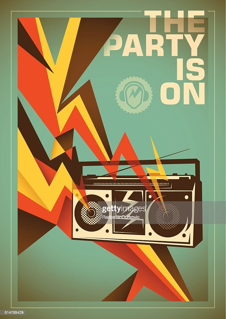 Party poster design with abstraction.