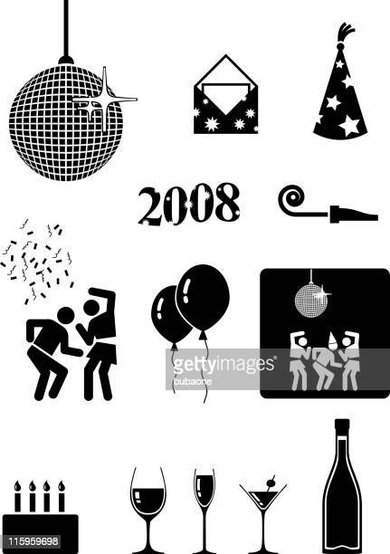 party royalty free vector icon set