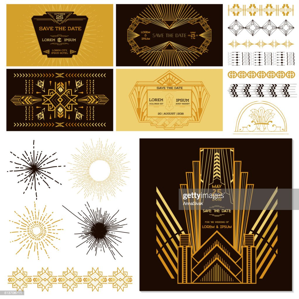 ART DECO OR GATSBY Party Set - for Wedding