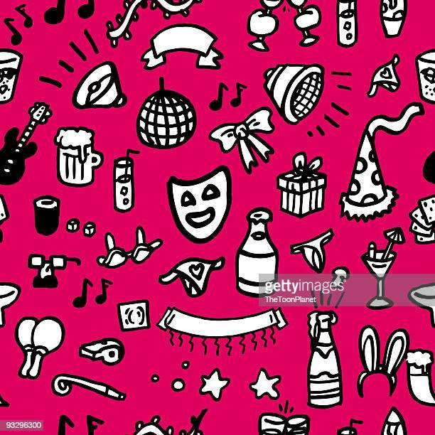 party set, seamless pattern - condom stock illustrations