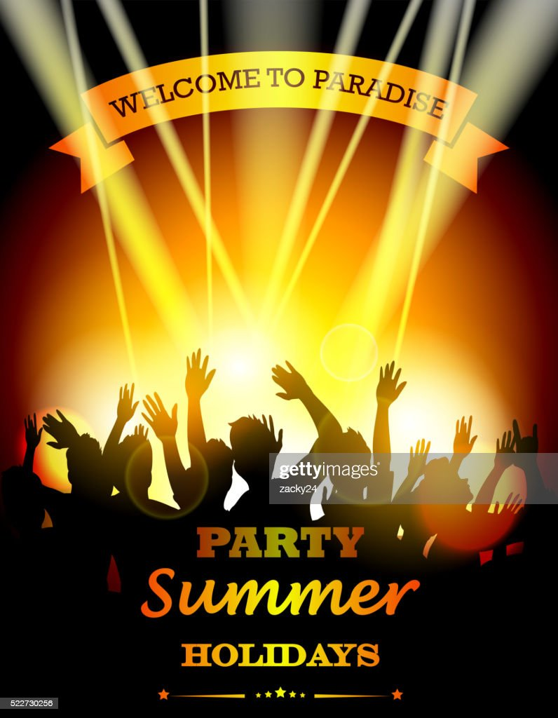 Party summer holidays