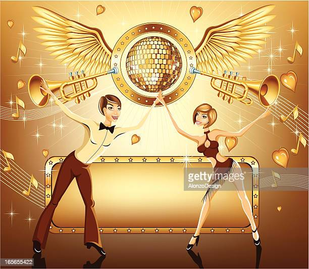 party with love, dance and music - salsa dancing stock illustrations, clip art, cartoons, & icons