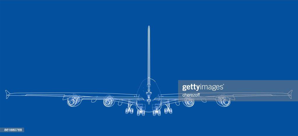 Passenger aircraft. Vector
