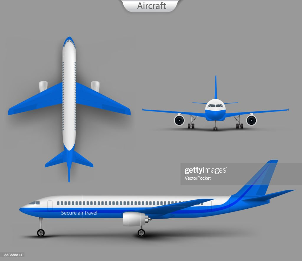 Passenger airplane vector template