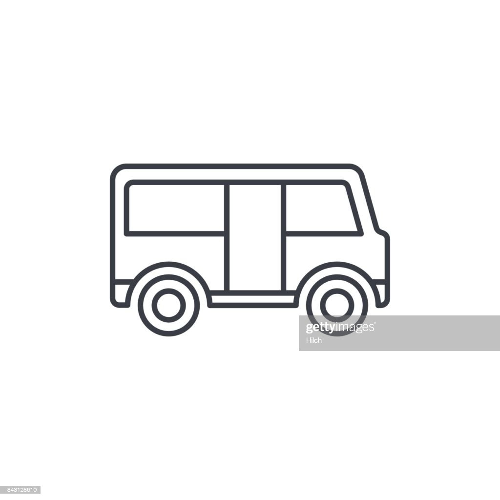 passenger bus thin line icon. Linear vector symbol